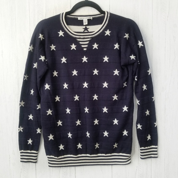Autumn Cashmere Sweaters - Autumn Cashmere Stars and Stripes Sweater